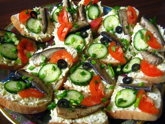 Бутерброди зі шпротами «балтика»