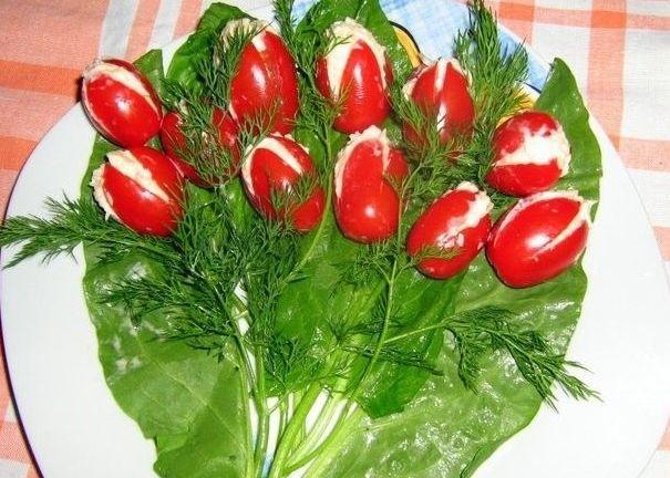 Закуска «весняні тюльпани»