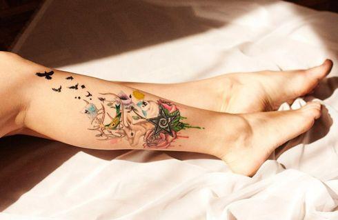 Жіночі татуювання на гомілки (30 фото)