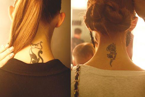 Жіночі татуювання на шиї (25 фото)